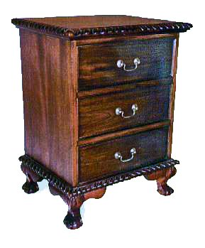 BSC17 - Chippendale Bedside Cabinet